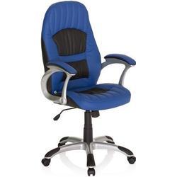 Gaming Stuhl / Bürostuhl RACER 200 Kunstleder blau / schwarz hjh OFFICE