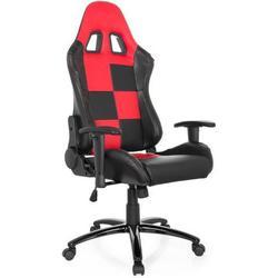 Gaming Stuhl / Bürostuhl Sportsitz Kunstleder SUZUKA II schwarz / rot hjh OFFICE