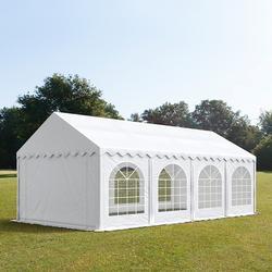 Partyzelt 3x8m PVC weiß Gartenzelt, Festzelt, Pavillon
