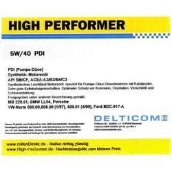 High Performer 5W-40 PDI Diesel 60 Liter Fass