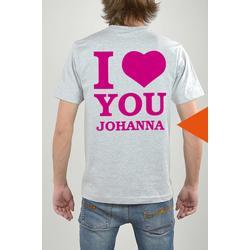 T-Shirt Grau, I Love You