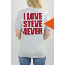 T-Shirt Grau, I Love