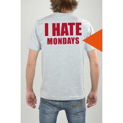 T-Shirt Grau, I Hate