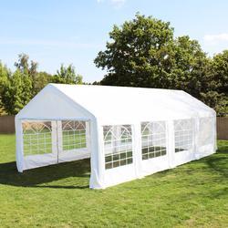 Partyzelt 3x8m PE weiß Gartenzelt, Festzelt, Pavillon