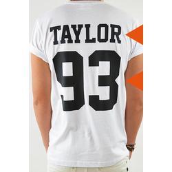 T-Shirt Name&Nb, weiß