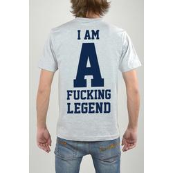 T-Shirt Grau, I Am