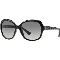 Vogue VO2871S W44/11 schwarz,grau Kunststoff Butterfly Damen Sonnenbrille in 56-16 (mittelgroß)