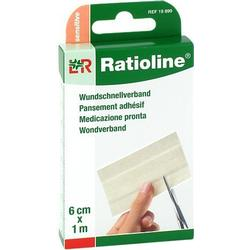 RATIOLINE sensitive Wundschnellverband 6 cmx1 m 1 St