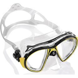 Cressi AIR, Erwachsene Premium Silikon Tauchmaske, CRYSTAL : Gelb, Blau, Weiß, Rosa, Lila, Schwarz / SCHWARZ : Gelb, Weiß, Blau, Schwarz / Made in Italy