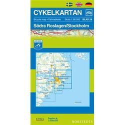 Nordstedts Cykelkartan Blad 28 Södra Roslagen/Stockholm