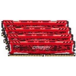 Crucial Ballistix Sport LT 16GB Kit 4GBx4 DDR4 2400 288pin red