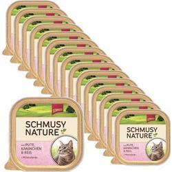 Sparpack! Schmusy Nature mit Pute, Kaninchen & Reis 16 x 100g