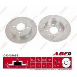Bremsscheibe, 1 Stück ABE C45016ABE