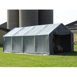 Lagerzelt Garagen PRO 5x8x2x2,9m, PVC, Grau