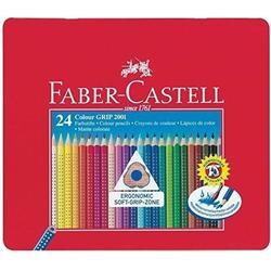 FABER-CASTELL Dreikant-Buntstifte Colour GRIP, 24er Etui