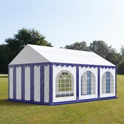 Partyzelt 3x6m PVC blau-weiß Gartenzelt, Festzelt, Pavillon