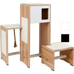 Kratzmöbel Ambiente im Holzdekor, Holzdekor/schwarz