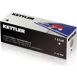 Kettler Tischtennisball 1 Stern (Farbe: 400 weiß)