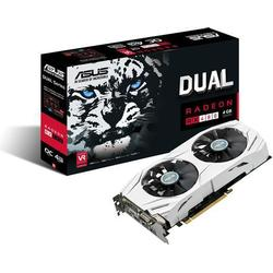 Asus Dual/RX480/O4G Gaming AMD Radeon Grafikkarte (4GB DDR5 Speicher, PCIe 3.0, HDMI, DVI, DisplayPort)