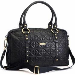 Storksak Elizabeth Leather Diaper Bag Black