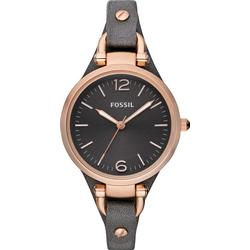 Fossil ES3077 Georgia Black/Leather Ø32 mm