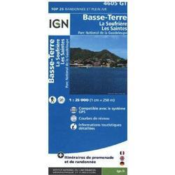 IGN Karte, Carte de randonnée (et plein air) Basse-Terre - La Soufrière - Les Saintes - Parc National de la Guadeloupe