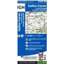 IGN Karte, Carte de randonnée (et plein air) Salles Curan Lac