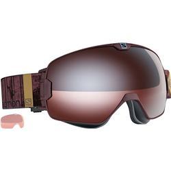 Salomon XMAX Access Skibrille (Farbe: burgundy, Scheibe: tonic orange/mirror silver)