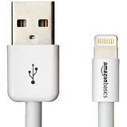 AmazonBasics Ladekabel Lightning auf USB, 10,2cm, zertifiziert von Apple, Weiß