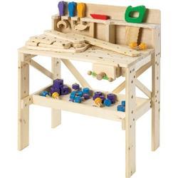 Legetøjs værktøjsbænk i træ