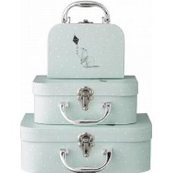 Suitcase 3 pcs Bloomingville Mint