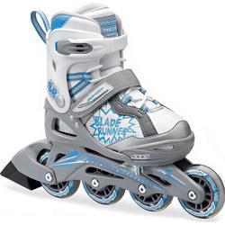"BLADERUNNER ""Phaser verstellbar Kinder"" Skate (groß, silber/blau)"