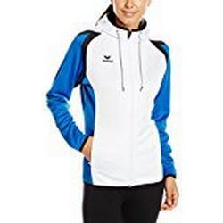erima Damen Trainingsjacke Razor 2.0 mit Kapuze, Weiß/New Royal/Schwarz, 38, 107645
