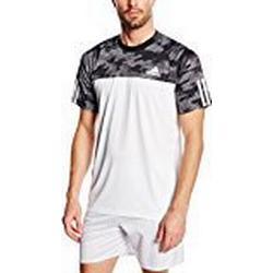 adidas Herren T/Shirt Response Trend, Weiß/Schwarz, L, AA6949