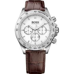 Hugo Boss IKON Chrono silberfarben/braun 1513175 Herrenchronograph