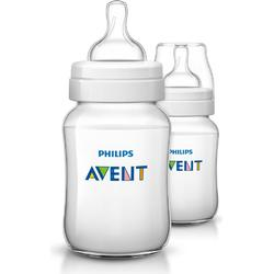 Philips Avent Classic+ Baby Bottle 260 ml (9 oz) 1M+ 2 Pack