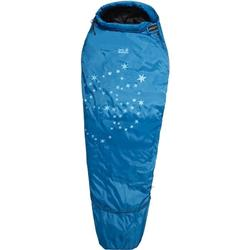 Jack Wolfskin Kinderschlafsack Grow UP Star left blau