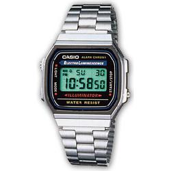 Casio Armbanduhr digital A168WA-1YES Silber