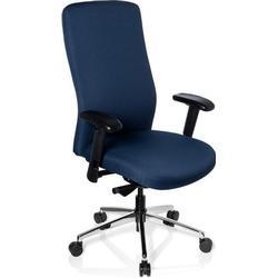 Schwerlaststuhl / Bürostuhl HEAVY CHAIR Stoff Vollausstattung blau hjh OFFICE