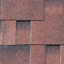 KARIBU Dachschindeln Asymmetrisch, rot