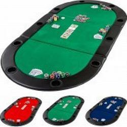 Pokerauflage Pokertisch klappbar faltbar, Farbe grün