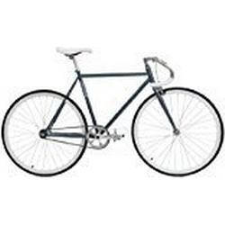 Critical Cycles Uni Classic Fixed/Gear Single/Speed Urban Road with Pista Drop Bars Bike, Schiefer, 53 cm/Medium