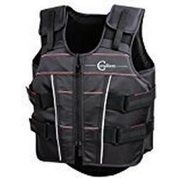 Covalliero Kinder Schutz und Sicherheitsweste Protecto light BETA, Schwarz, XS, 325445