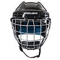 Bauer Kinder Eishockeyhelm Nit Prodigy/Serie für Kids Helm mit Schutzgitter für Eishockey, Weiß, one size
