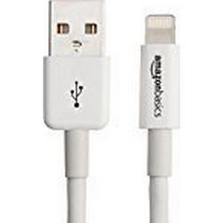 AmazonBasics Ladekabel Lightning auf USB, 3m, zertifiziert von Apple, Weiß