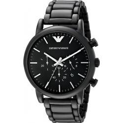 Emporio Armani - Schwarze Chronograph-Armbanduhr aus Edelstahl AR1895 - Schwarz
