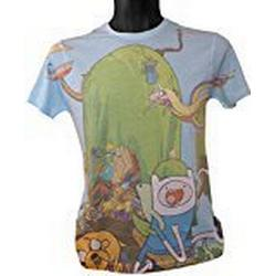 Adventure Time Finn und Jake 's Treehouse Sublimation Print T/Shirt (groß)