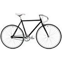 Critical Cycles Classic Fixed/Gear Single/Speed Urban Road with Pista Drop Bars Bike, Schwarz, 43 cm/X/Small