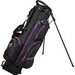 Spalding Wasserdichte Golftasche mit Standfunktion, Schwarz/Violett, 19 cm