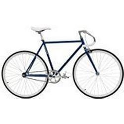 Critical Cycles Classic Fixed/Gear Single/Speed Urban Road with Pista Drop Bars Bike, Mitternachtsblau, 43 cm/X/Small